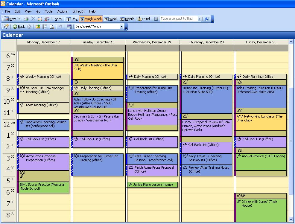 How To Organize Your Calendar  The Jonathan Rick Group