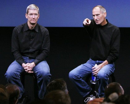 Tim Cook and Steve Jobs
