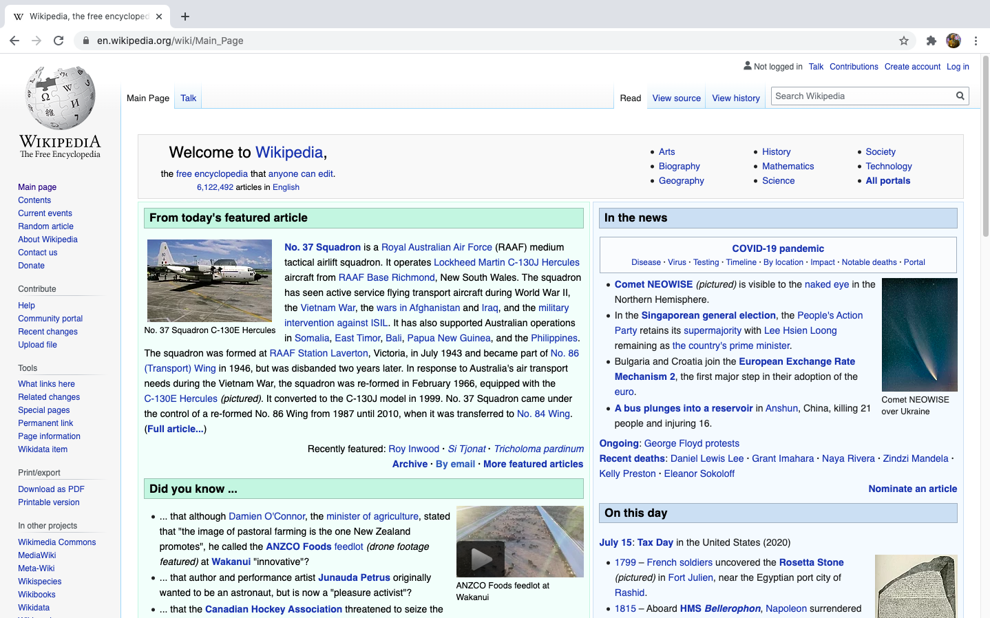 Wikipedia Screenshot