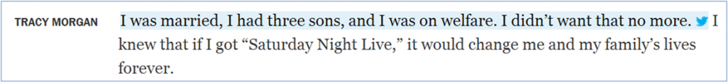 Tweetable Pull Quote From Tracy Morgan