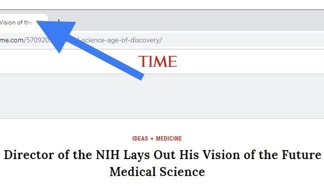 Screenshot from Time.com